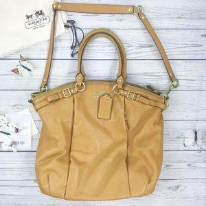 COACH Mustard Maddison Lindsey Satchel Handbag
